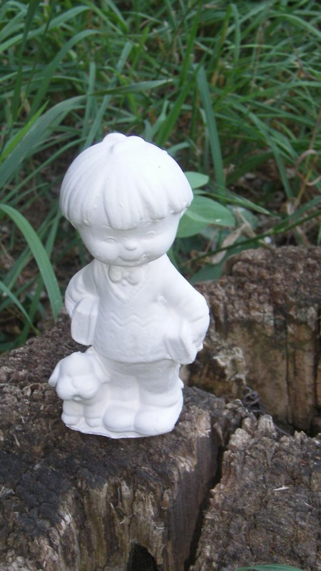 Гипсовая фигурка - раскраска Мальчик