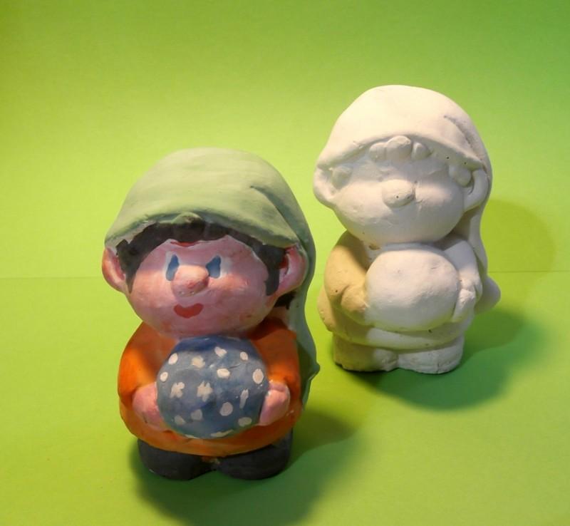 Гипсовая фигурка - раскраска Гном с волшебным шаром