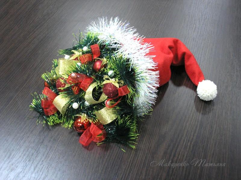 Шапка Санта-Клауса настольная композиция