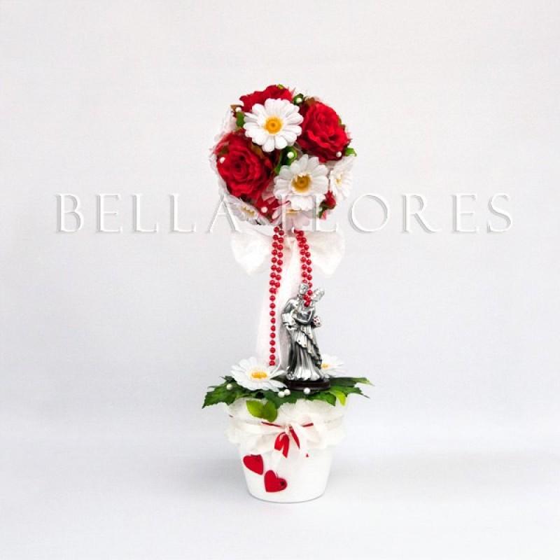 Топиарий Розы и ромашки