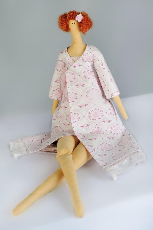 Кукла в стиле Тильда. Дама в халате