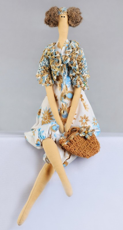 Кукла в стиле Tilda серия Пляжная прогулка