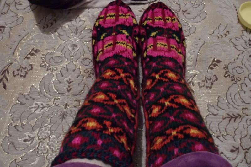Вязаные носочки!!!!