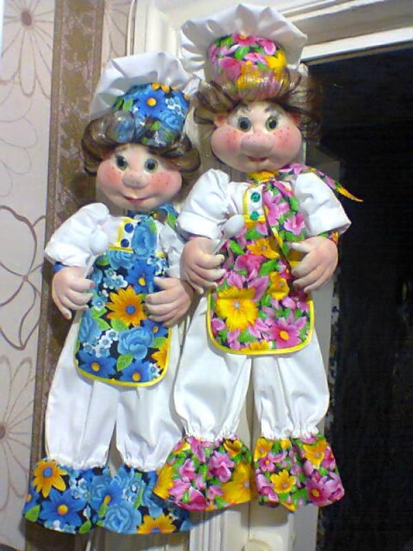 Куклы пакетницы. Повярята. Выставлены для примера.