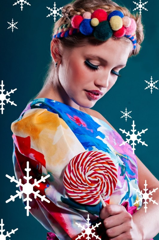 Новогодний образ Конфета. Яркий аксессуар для волос