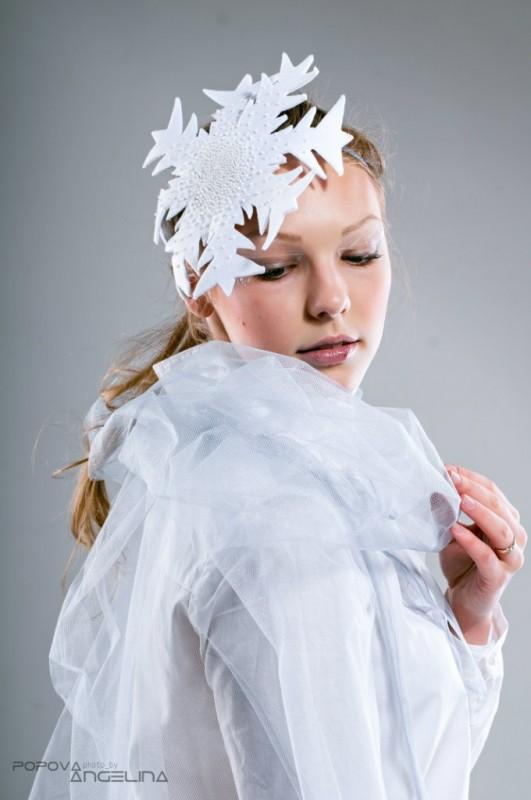 Новогодний образ Снежинка. Зимний аксессуар для волос