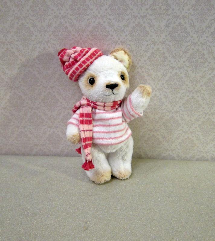 Мишка Тедди Белый медвежонок Ромка