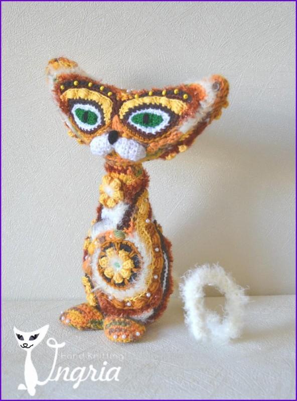 Кот Леопольд, авторская игрушка.