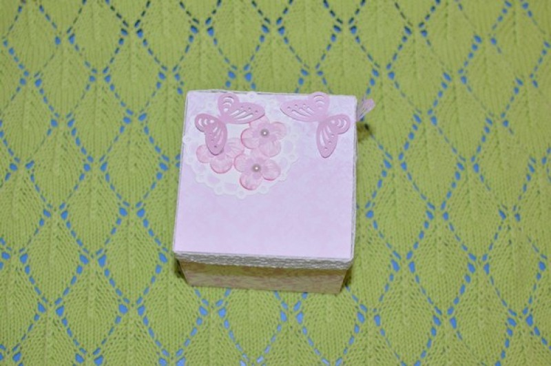 Открыкрытка коробочка для поздравления новорожденной
