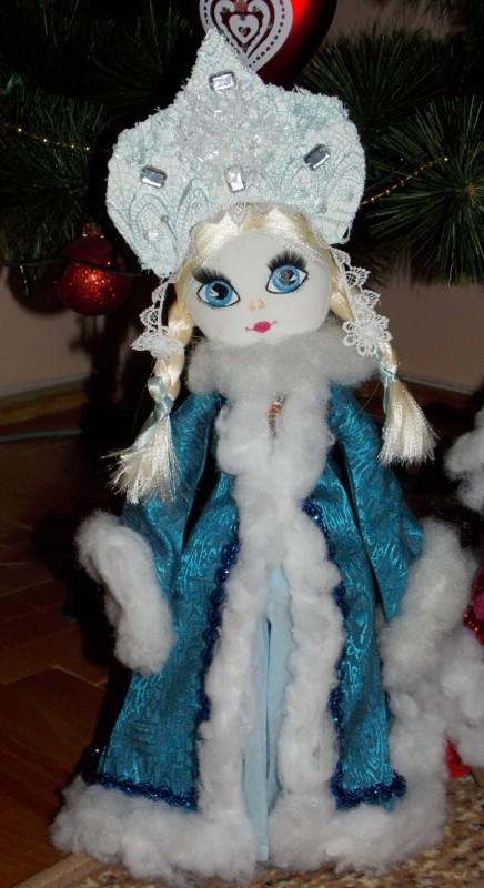 Интерьерная кукла ручной работы Снегурочка