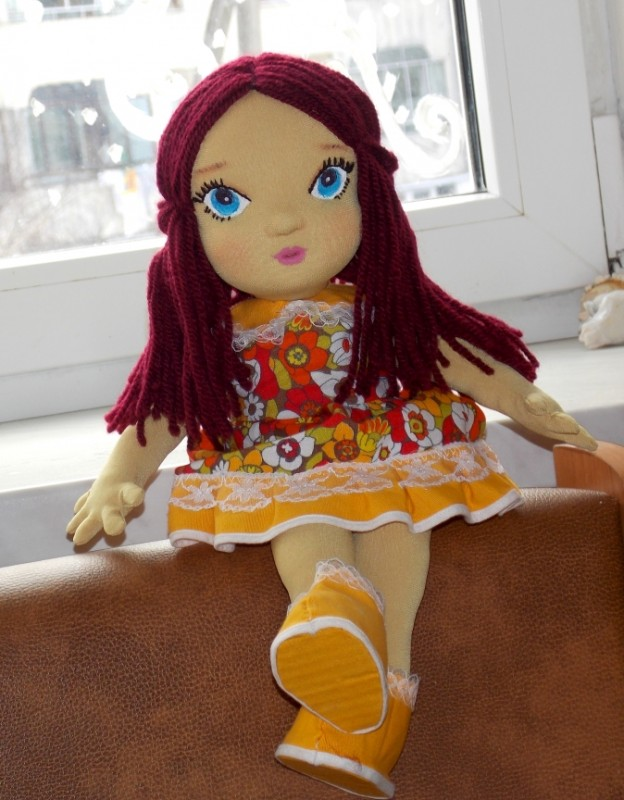 Текстильная куколка Милана