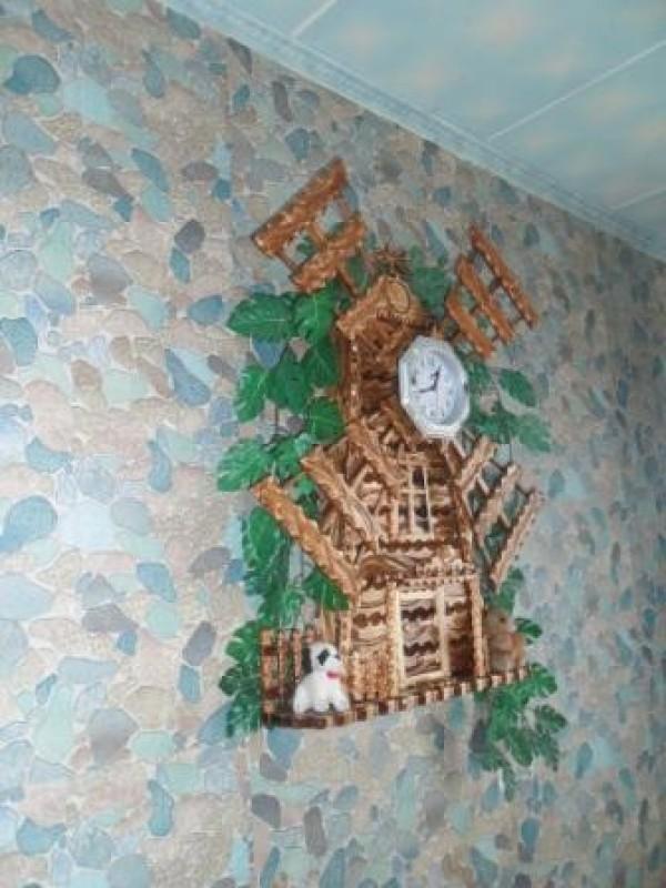 Настенные напольные часы-мельница