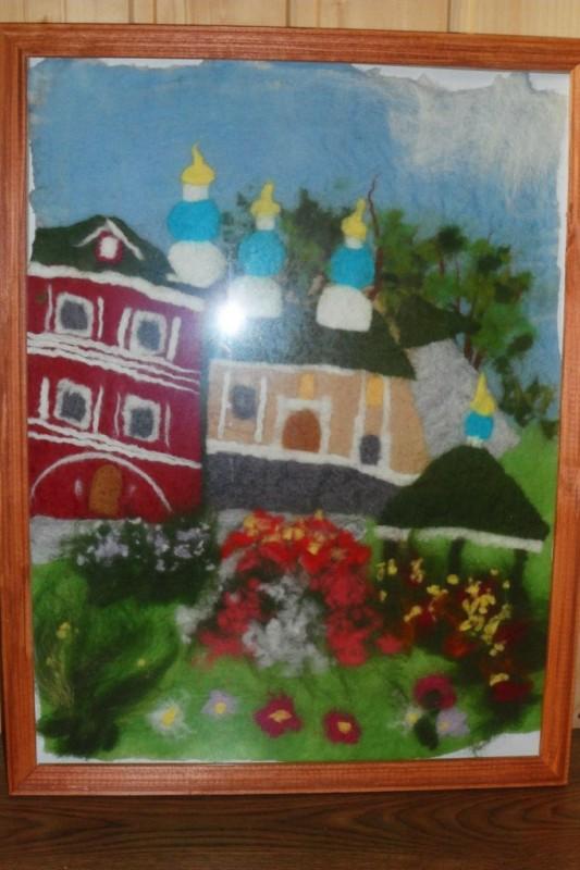 Картина Псково-Печорский монастырь