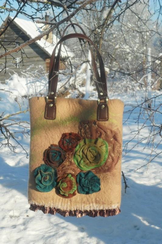 Валяная сумка Винтажная