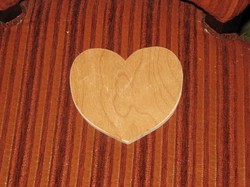 сердечки из фанеры