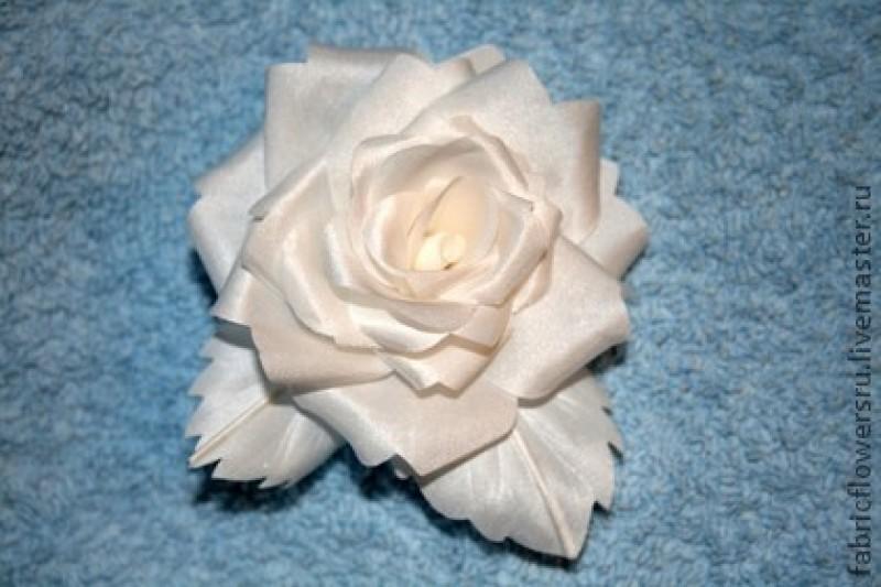 Роза. Цветок из ткани