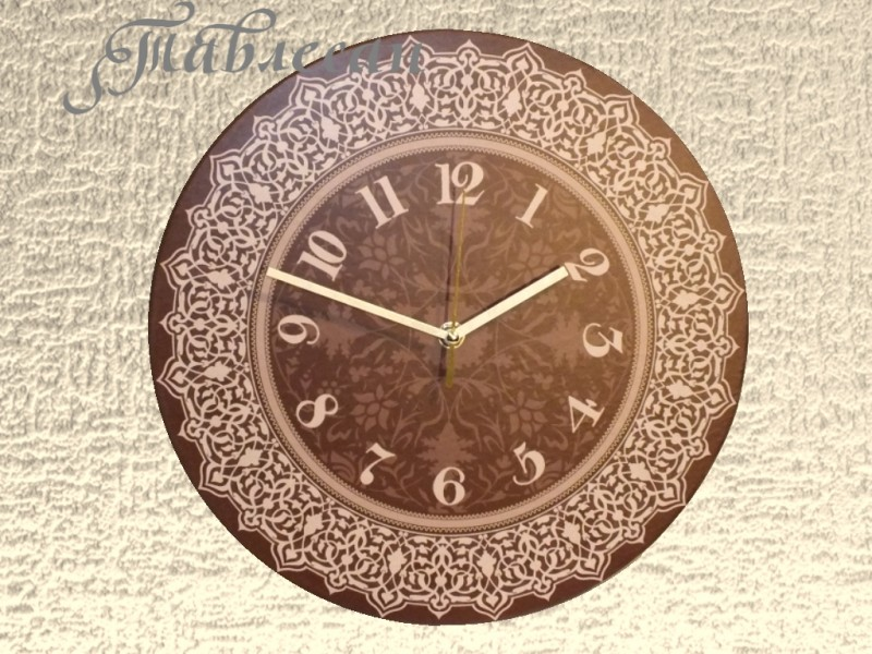 Настенные часы Шоколад со сливками круглые