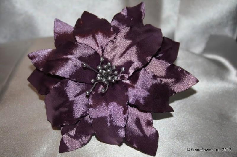 Многослойная лилия. Цветок из ткани