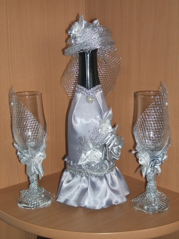 свадебное шампанское + 2 фужера