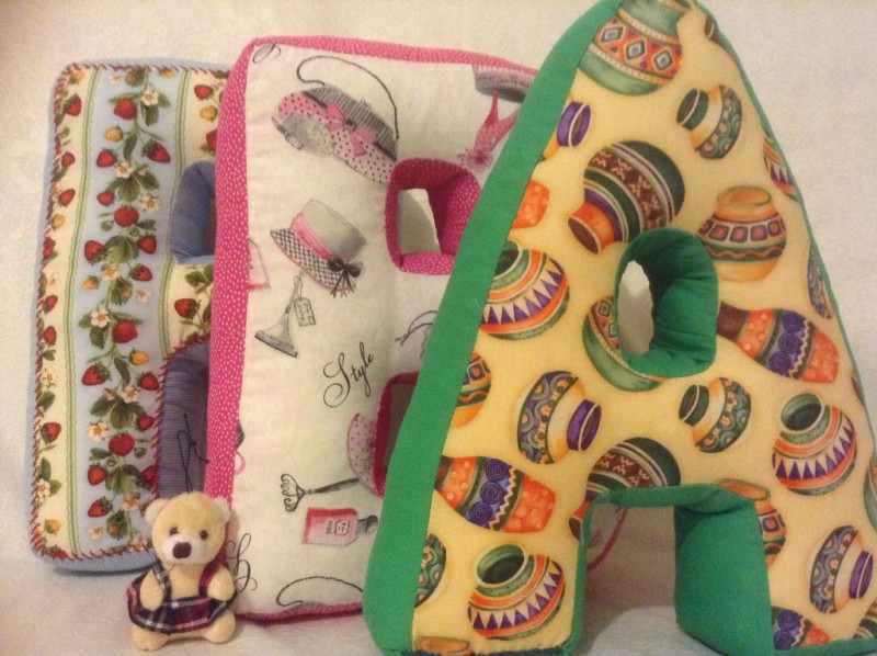 Декоративные подушки Буквы-подушки