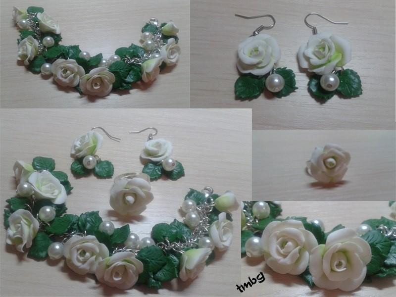 Розы с жемчугом