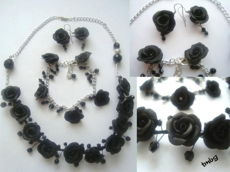 Воздушные черные розы