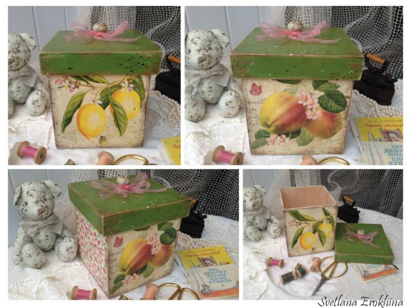 Шкатулка - короб Лимонное дерево