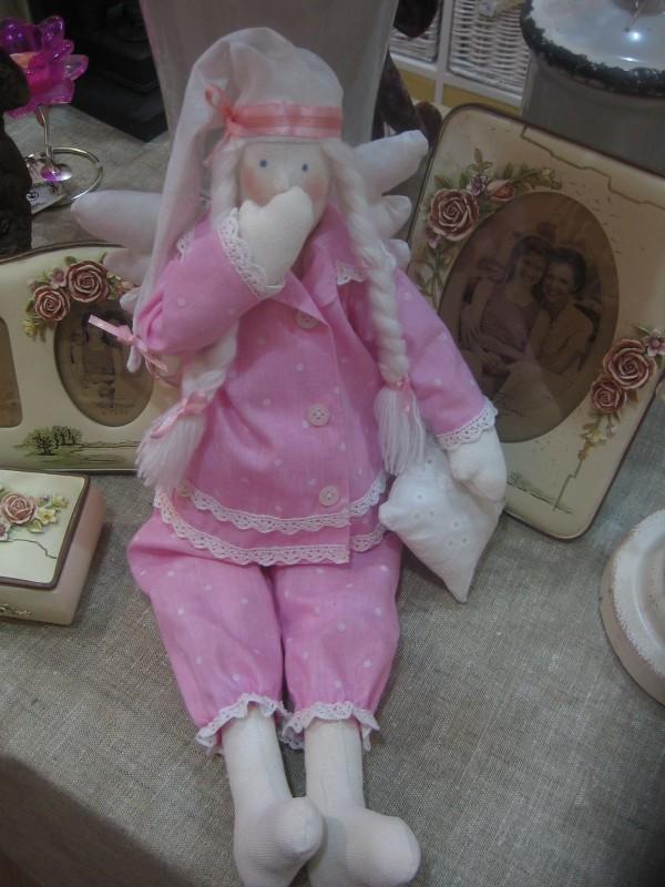 Сонный ангел в розовом