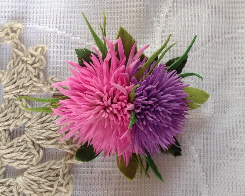 Брошь из фоамирана Цветы для любимых