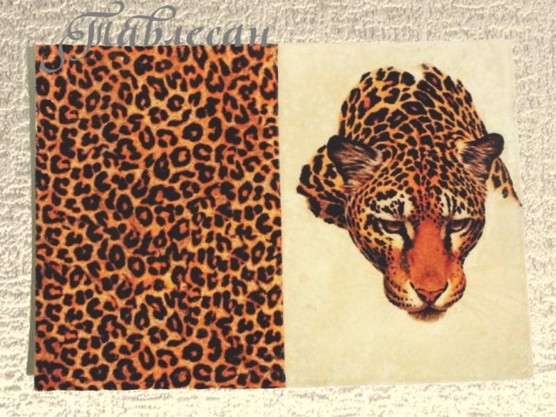 Обложка для паспорта Леопард кожа декупаж для женщины