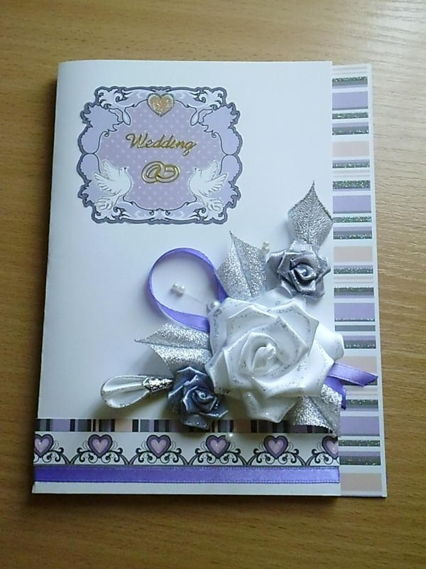 Красочная открытка на свадьбу