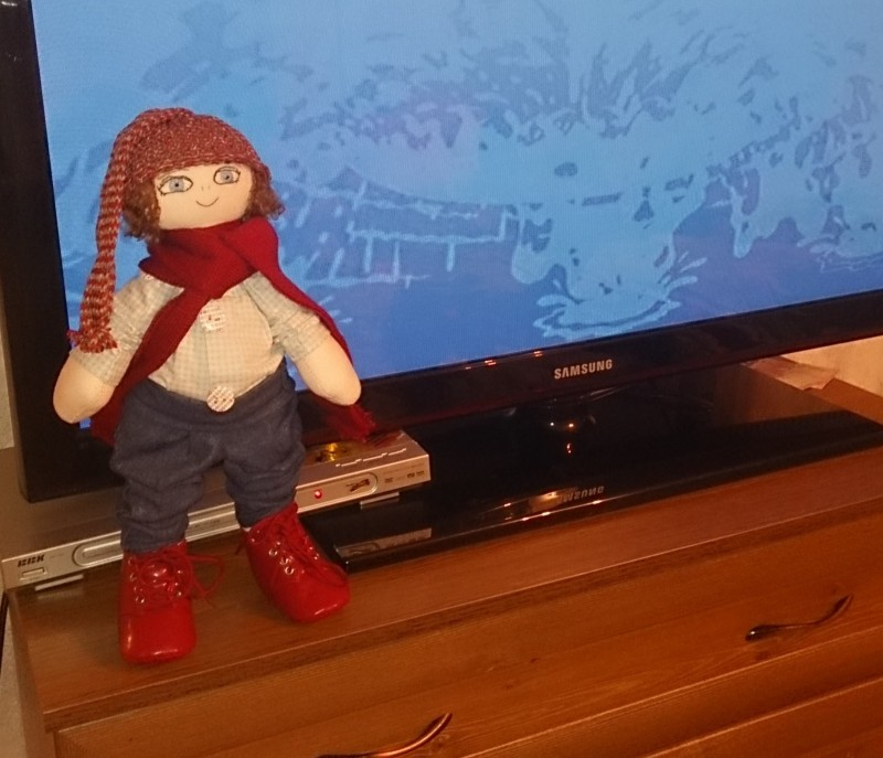 Текстильная кукла Ванечка