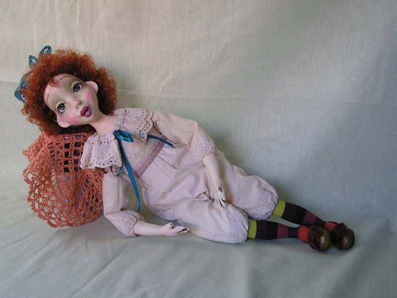 Подвижная кукла Рыжее настроение...
