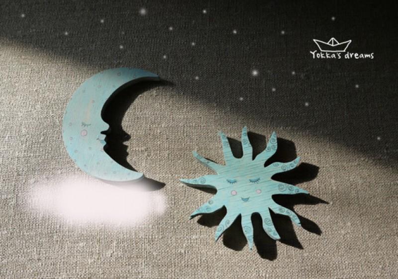 магнит Месяц, Солнце, Облако