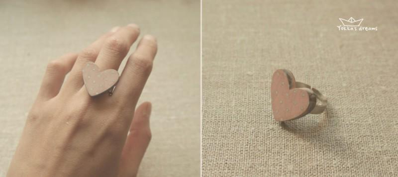 кольцо сердечко