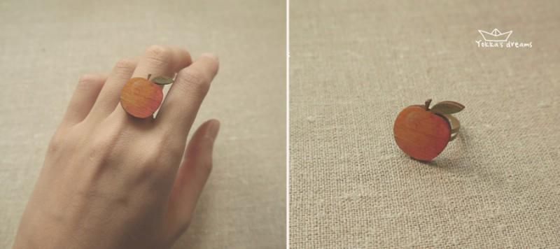 кольцо яблочко