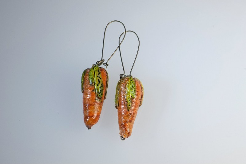 Серьги Морковь.