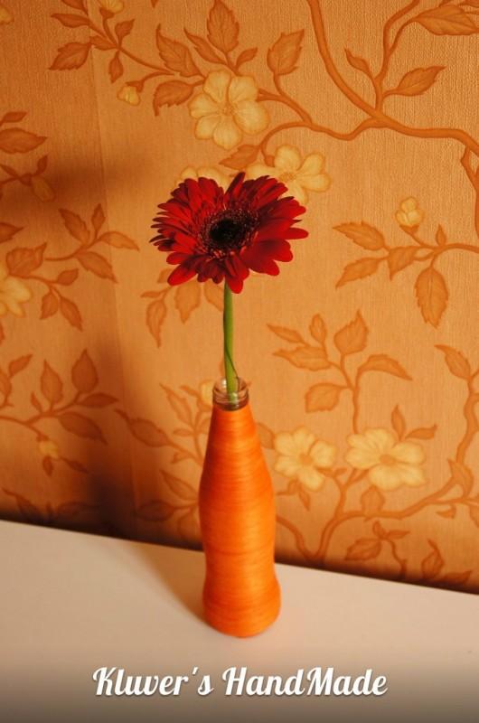 Оранжевая ваза