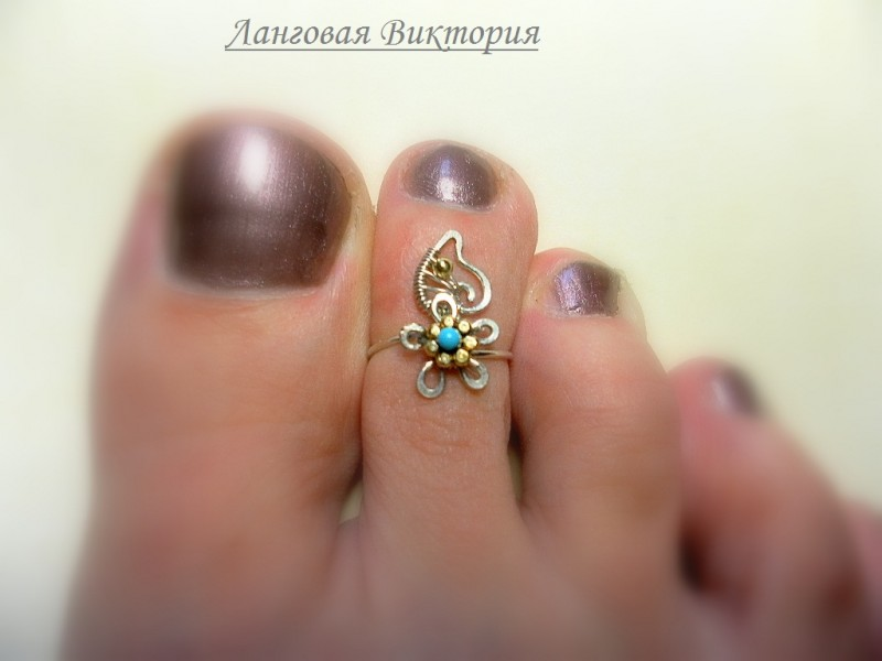 Колечко на палец ноги Незабудка.