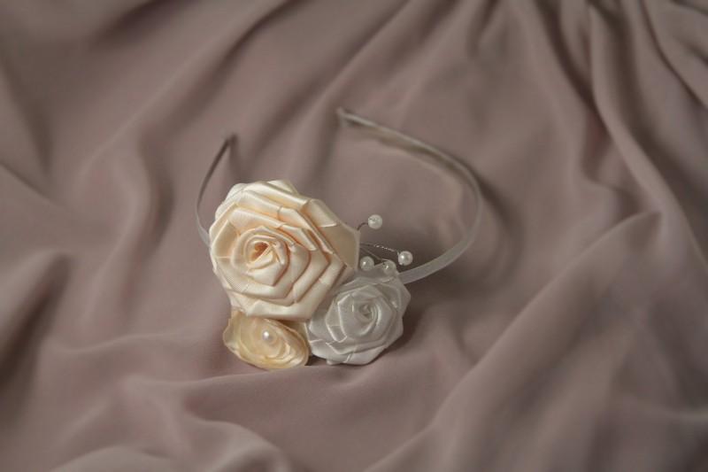 Ободок для волос с цветами Невеста
