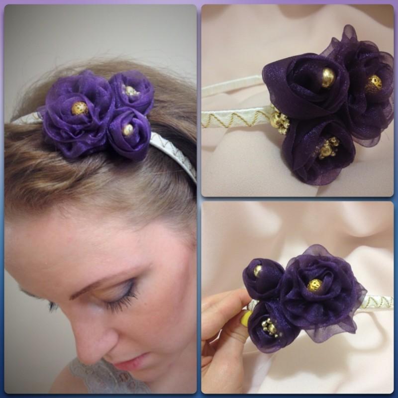 Ободок для волос Фиолетовая Изысканность