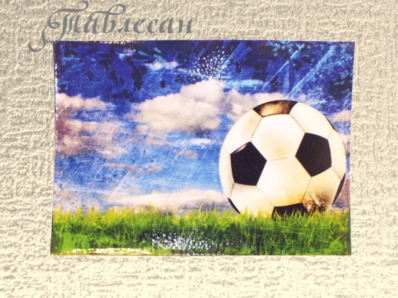 Обложка для паспорта Футбол кожа декупаж для мужчины