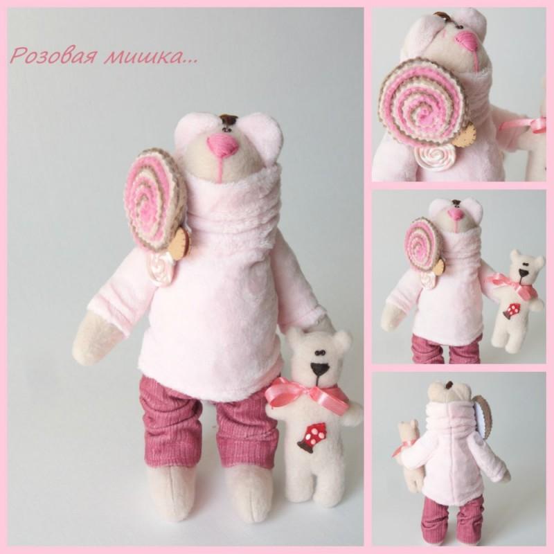 Розовая мишка