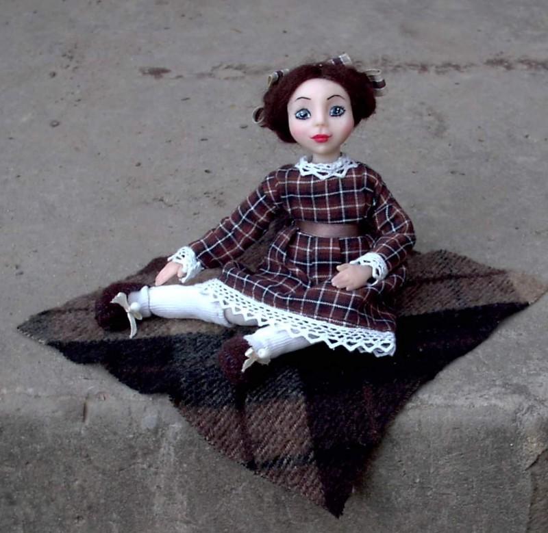 Кукла из полимерной глины Анна