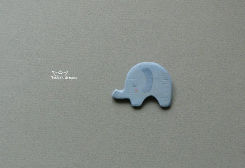 брошь слоник