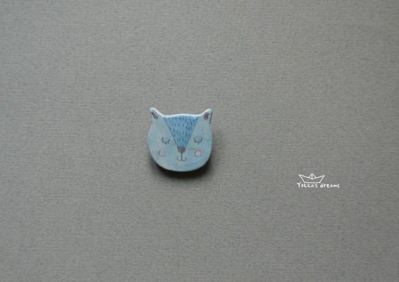 брошь кот №2