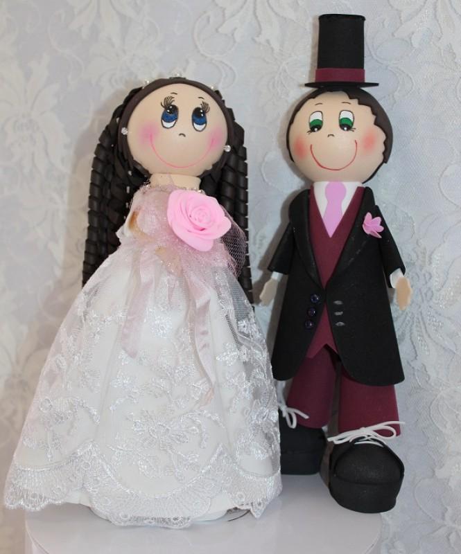 Интерьерные свадебные куклы Жених и невеста