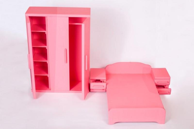 Деревянный набор для кукольной спальни