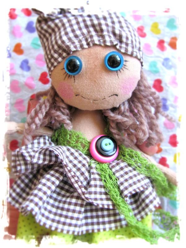 Текстильная кукла крошка Сью