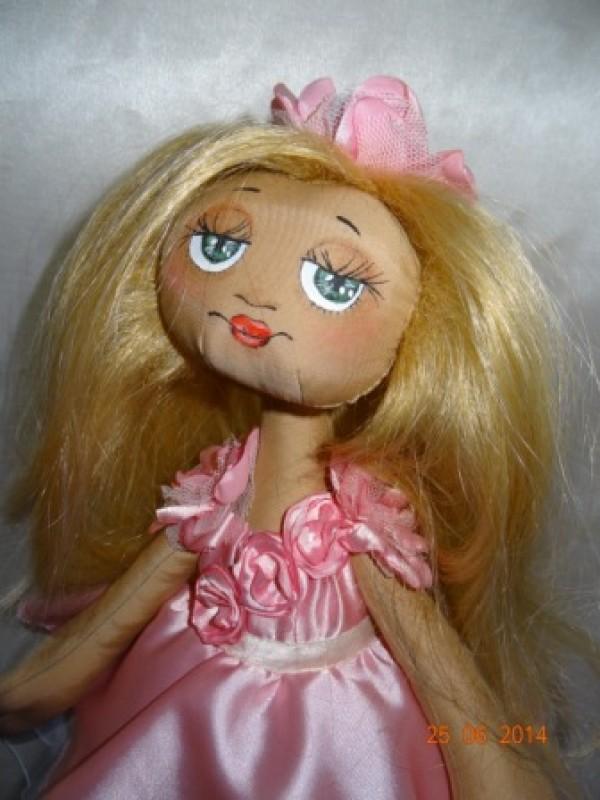 кукла интерьерная текстильная большеножка
